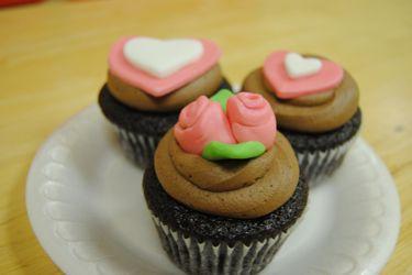 last year's valentine's cupcakes