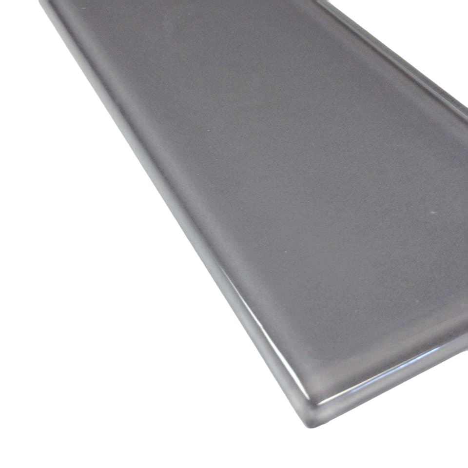 4x16 Glass Subway Tile Charcoal 9 99 Per Square Foot