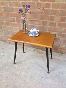 Details About Fantastic Stylish Retro Vintage Small Teak Coffee Side Table Stool Two Available Table Stool Table Coffee Table