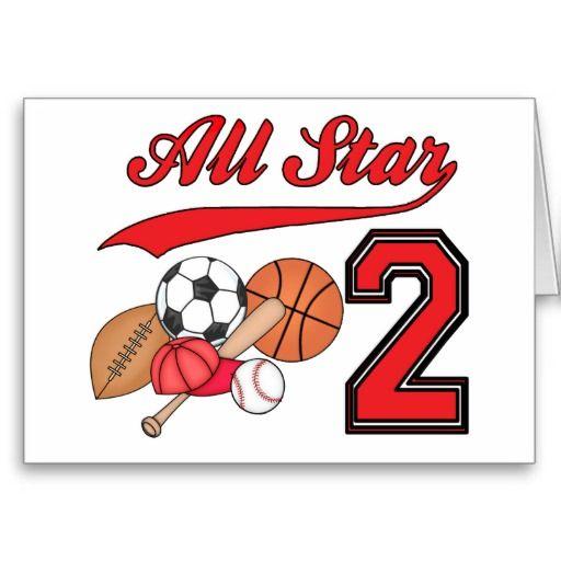 All Star Sports 2nd Birthday Fill In Invitations Zazzle