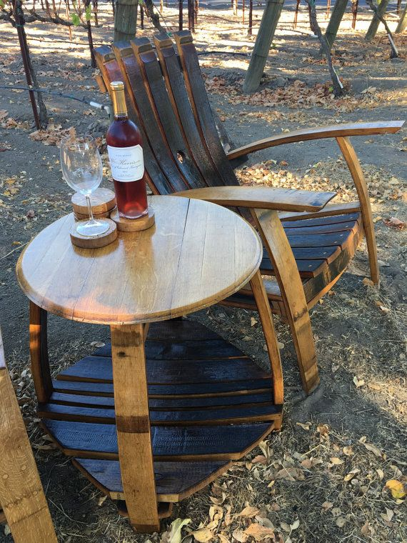 furniture made from barrels. Barrel Head Table // Wine Furniture Side Indoor Outdoor With Bottom Shelf Made From Barrels