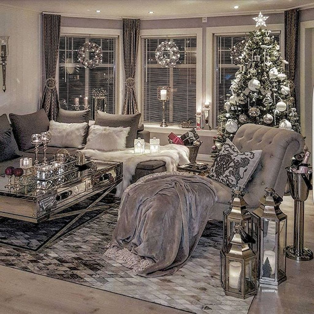 Pin By Luxxu Modern Design Living On Great Cozy Interior Designs Silver Living Room Christmas Living Rooms Cozy Living Rooms
