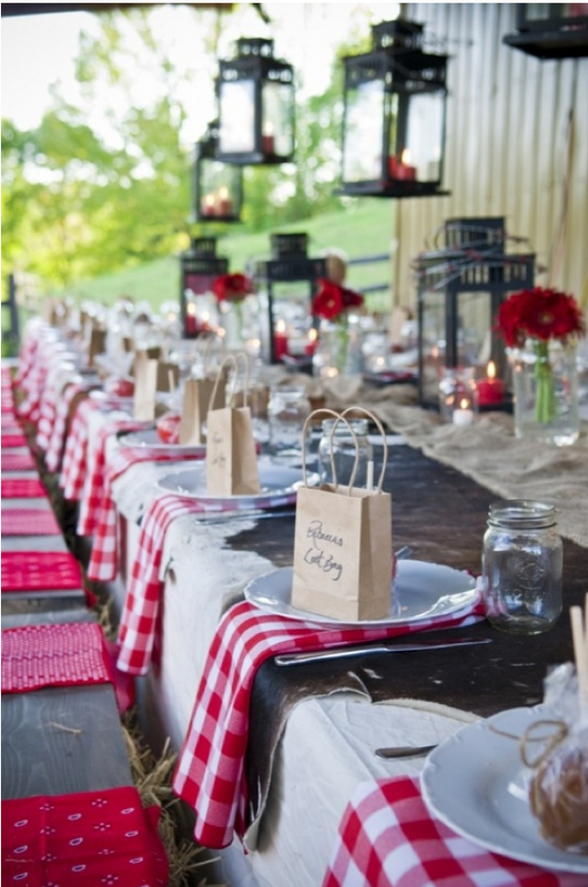 #red gingham wedding tables ... For a Reception Guide ... https://itunes.apple.com/us/app/the-gold-wedding-planner/id498112599?ls=1=8 ... plus how to organise your entire wedding ... The Gold Wedding Planner iPhone App ♥
