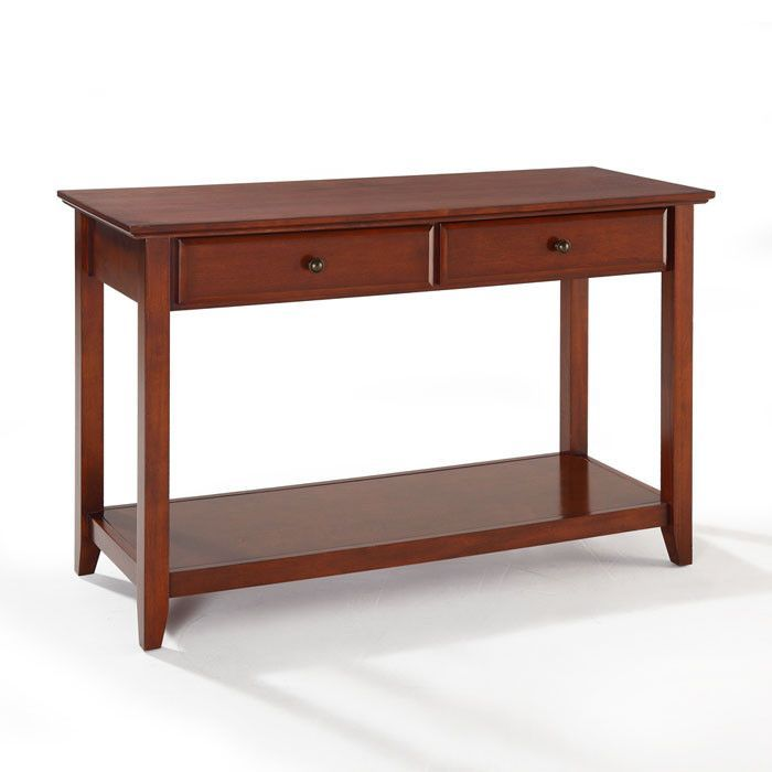 Crosley Furniture CF1303-CH Sofa Table With Storage Drawers in Classic Cherry Finish
