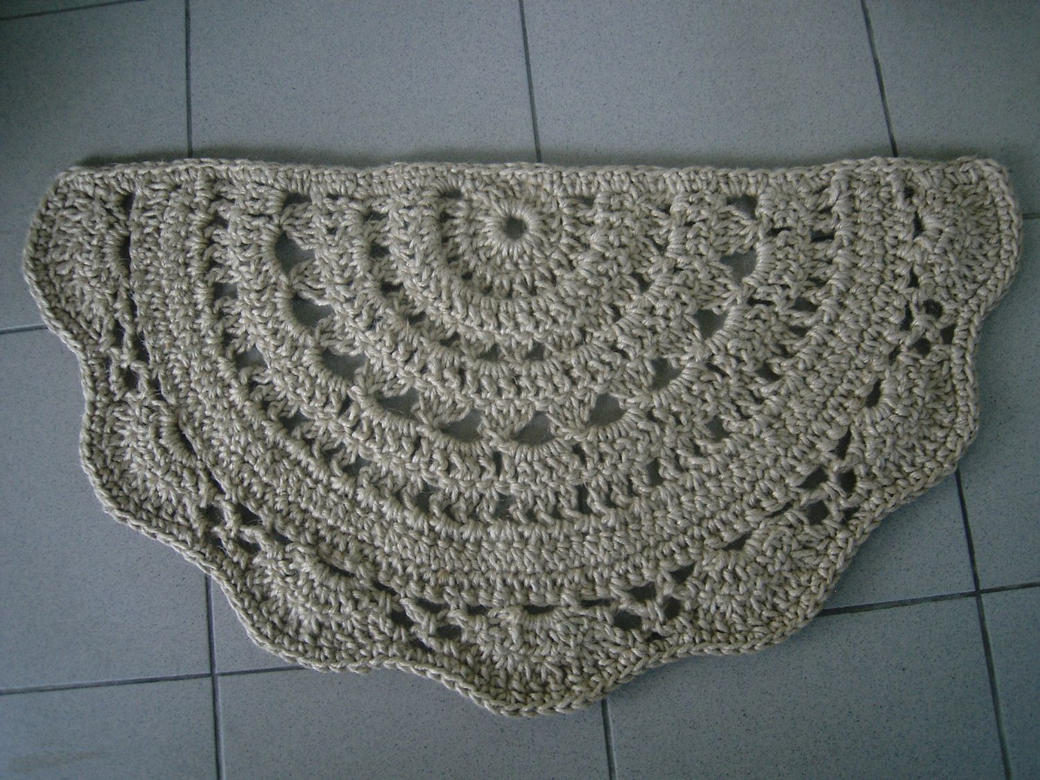 Doormat Half Circle Crochet Jute Door Rug Kitchen Rug Rug Pattern Fabric Rug Crochet Carpet