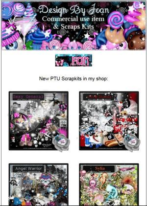 """Ad:New Scrapkits """"Sexy General"""" ,""""Afro Skate"""", & More from Designs by Joan! http://mad.ly/a990d3"""