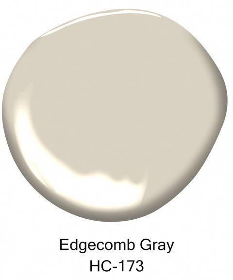Colorful Accent Wall For Neutral Greige: Benjamin Moore Edgecomb Gray / An Earthy, Soft Neutral