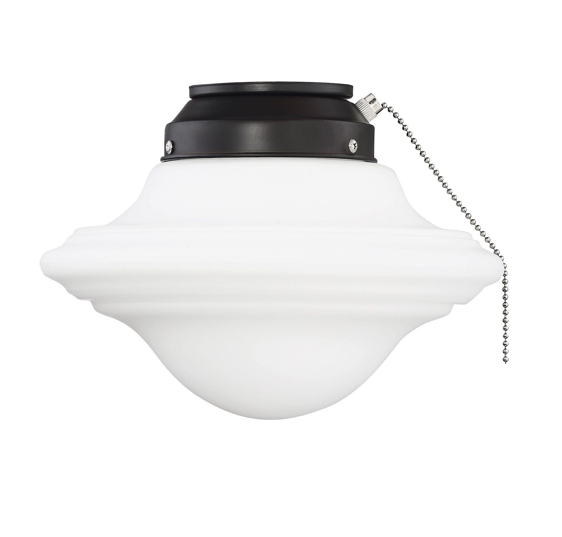 Pierce Paxton 1-Light Schoolhouse Ceiling Fan Light Kit