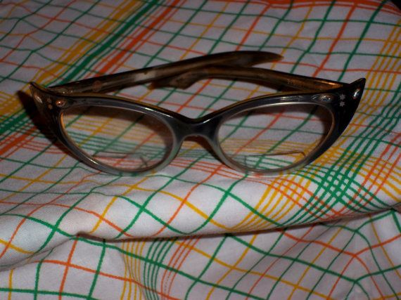 Vintage Cat Eye Glasses Winged 1950's-1960's