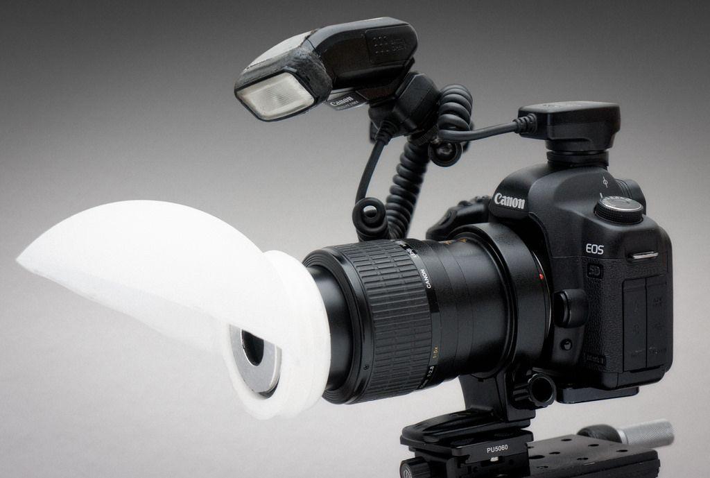 DIY Lamp shade macro diffuser Foto Macro Photography