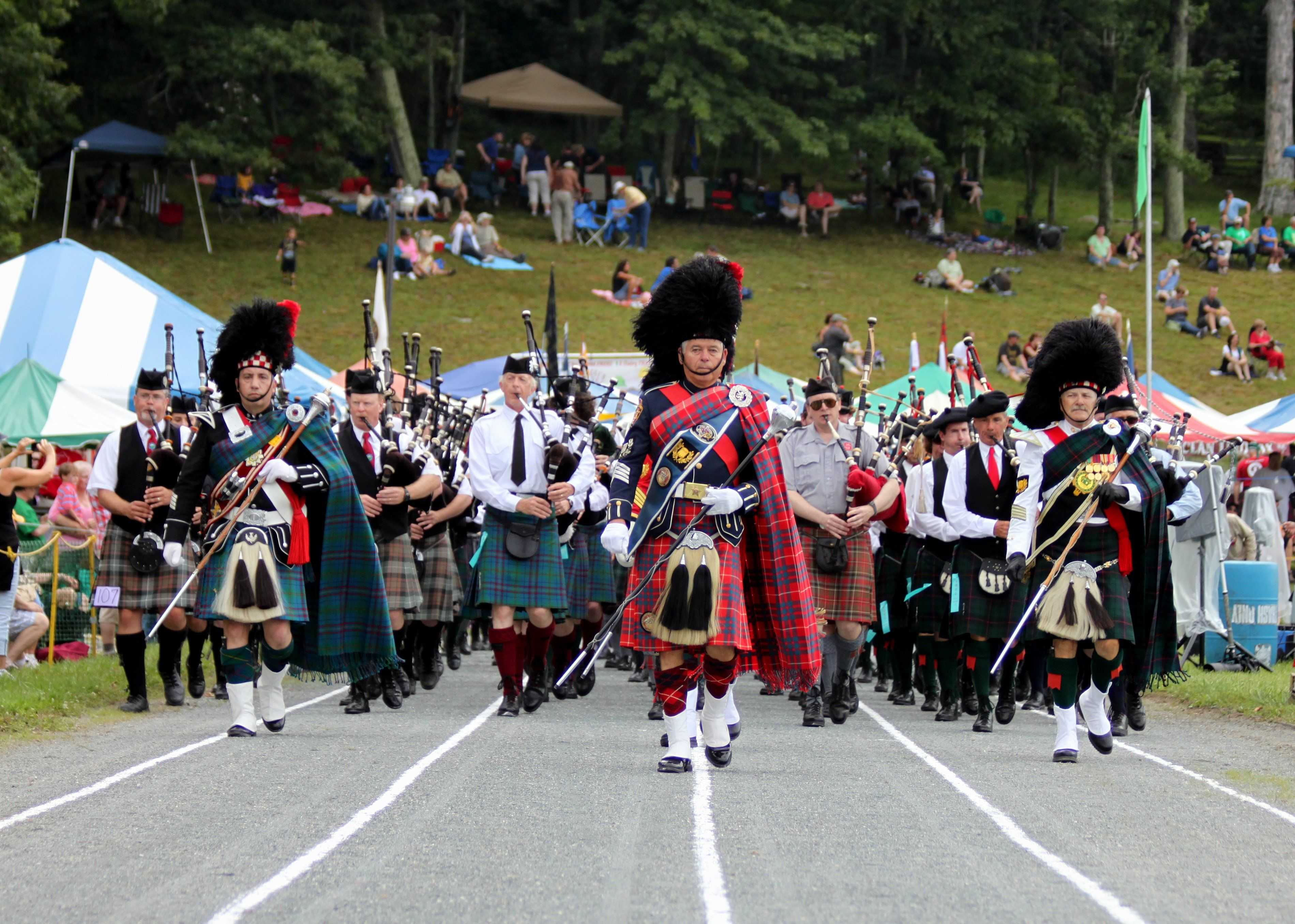 Grandfather Mountain Highland Games Clan Parade, Linville