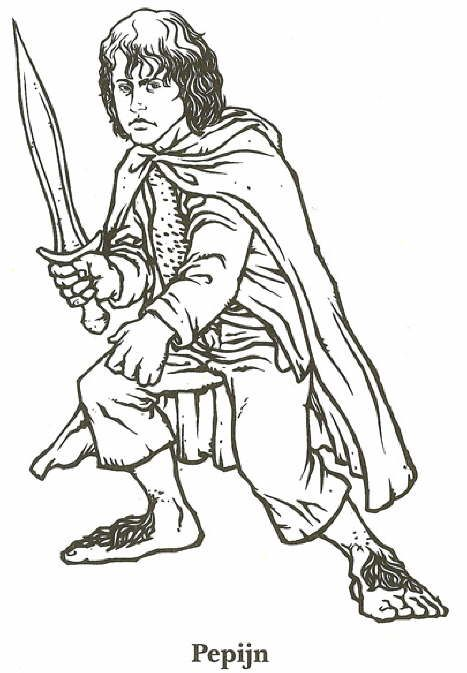 coloring page Lord of the Rings - Lord of the Rings...someone ...