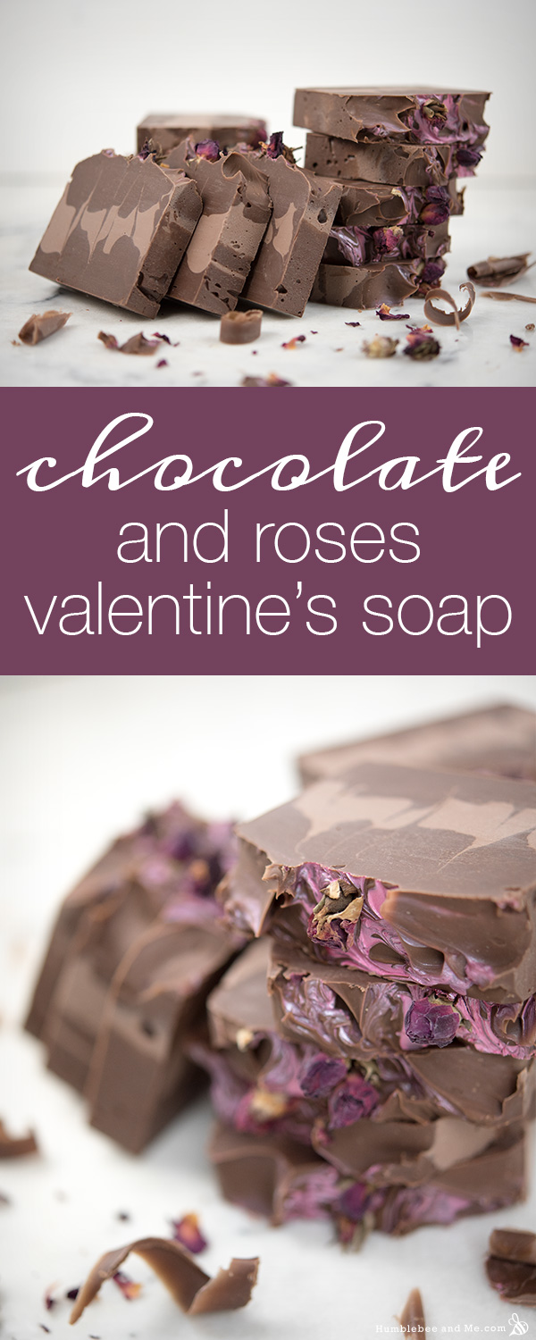 Chocolate and Roses Valentine Soap - Humblebee & Me