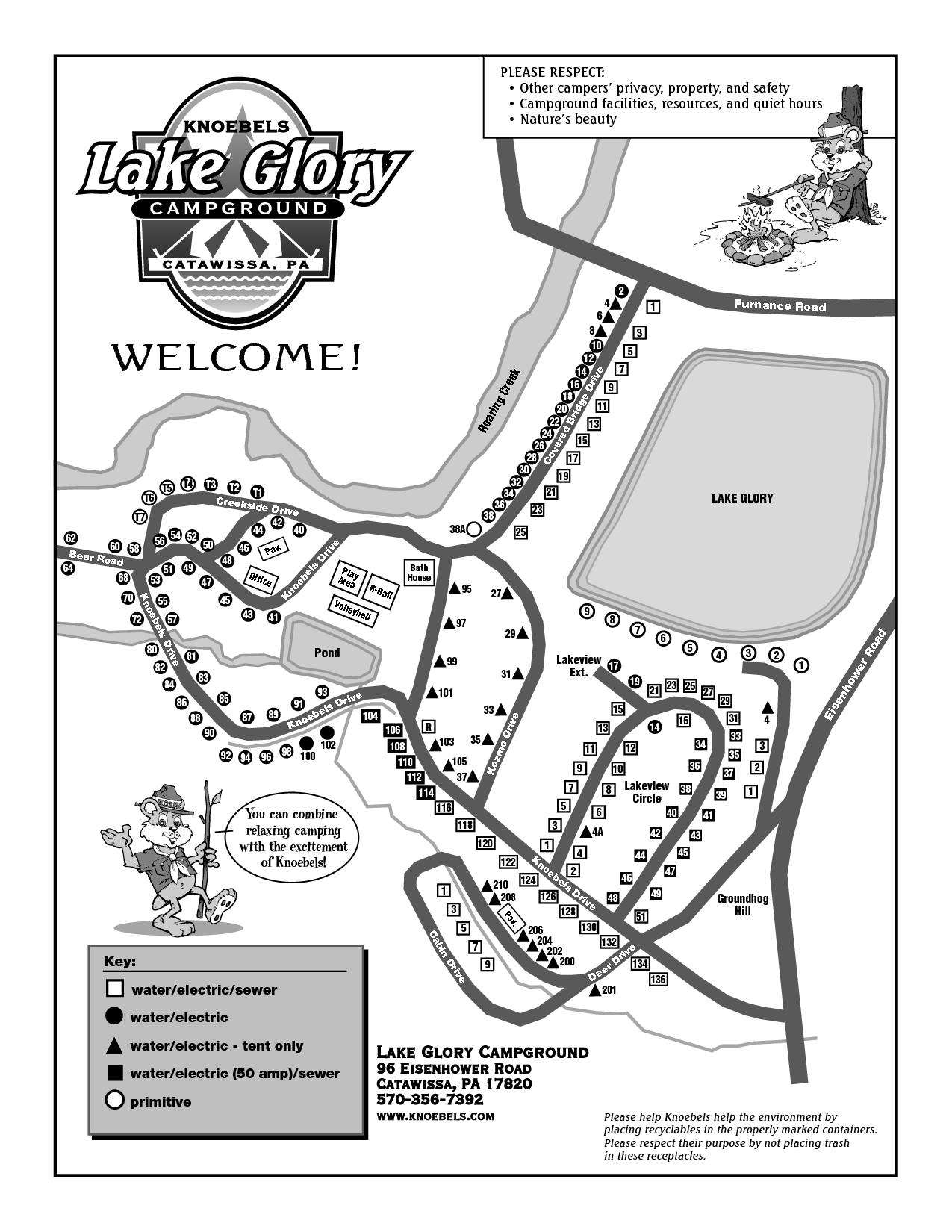 Knoebels Campground Map Lake Glory Knoebels | Hey I've Been There in 2019 | Campsite