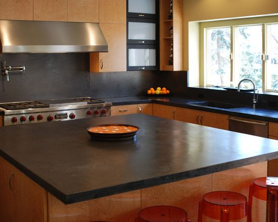 Best Modern Kitchen Island With Black Concrete Countertops 400 x 300