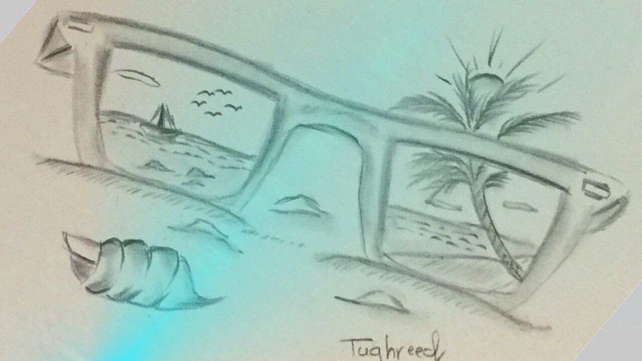 تعلم رسم منظر طبيعي بالرصاص سهل جدا رسم منظر طبيعي لشاطئ How To Draw A Scenery Of Sea Beach With Pencil Spaceship Drawing Easy Drawings Painting Art Projects