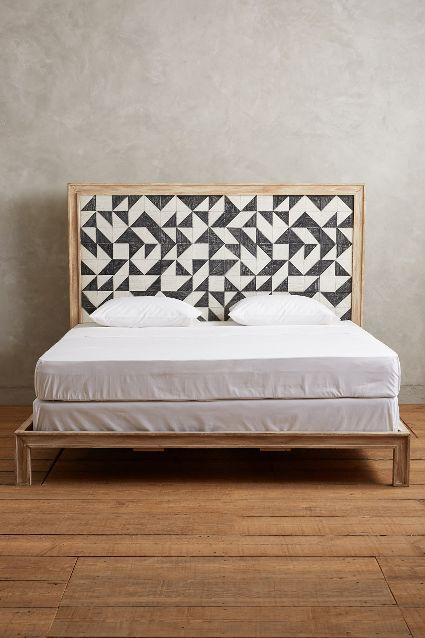 100% authentic 1674f 16a33 graphic headboard #anthropologie | SPACES AND GEMS | Bedroom ...