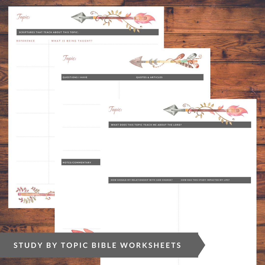 Inductive Bible Study Worksheets