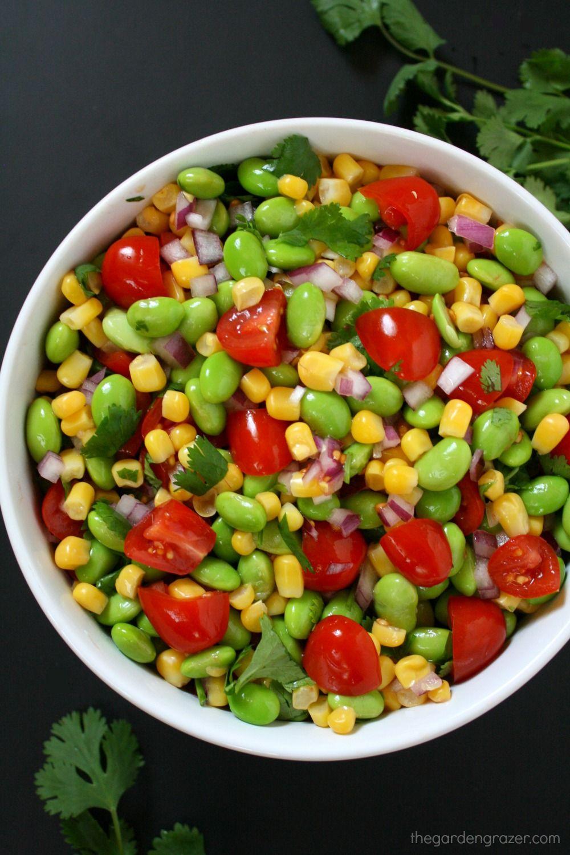 Edamame Tomato Corn Salad With Lemony Dressing Recipe