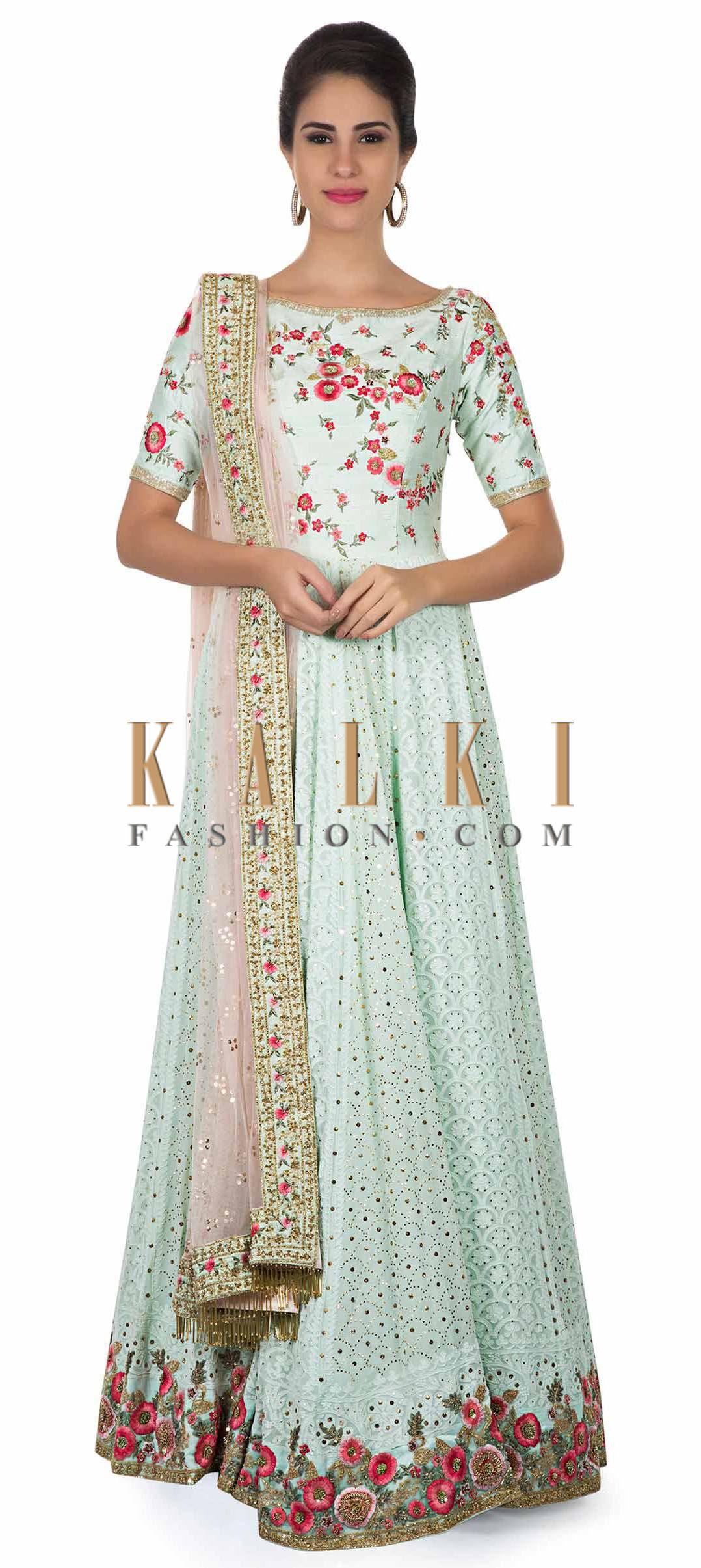0d04965f44 Mint anarkali in lucknowi thread work only on Kalki | ANARKALI AND ...
