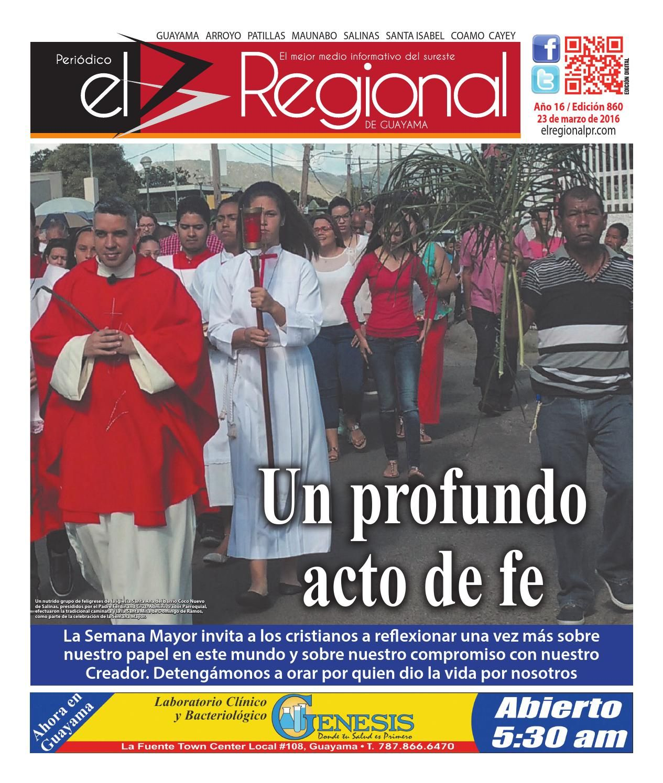 Periódico El Regional - Edición 860  23 de marzo de 2016