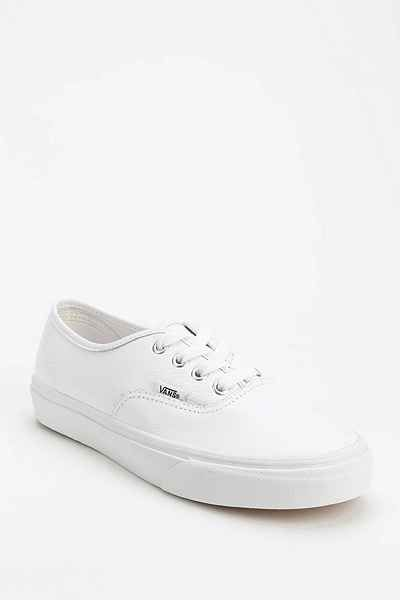 Médico vender torre  Vans Authentic White Leather Low-Top Womens Sneaker - Urban Outfitters | Vans  authentic white, Sneakers, Vans