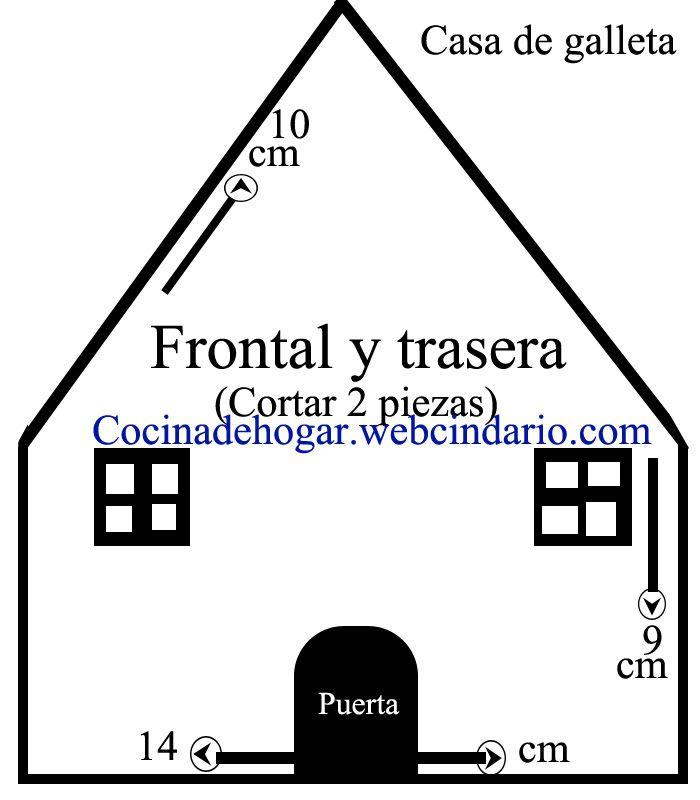 Moldes Para Casa De Galleta De Jengibre Casas Navideñas En 2019