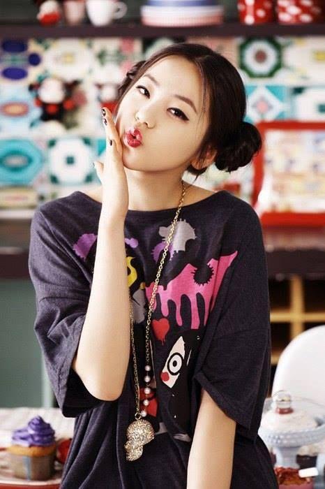 Chinese Double Bun Hairstyle Korean Hairstyle Asian Hair Sohee Wonder Girl