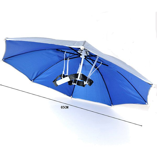 Windproof Summer Fishing Camping Hiking Foldable Sun Umbrella Headwear Sale - Banggood.com