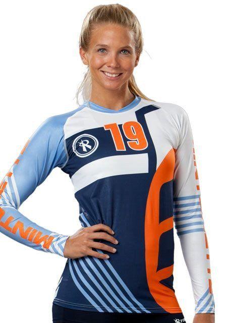 Odyssey Long Sleeve Sublimated Jersey Volleyball Outfits Volleyball Jerseys Volleyball Uniforms