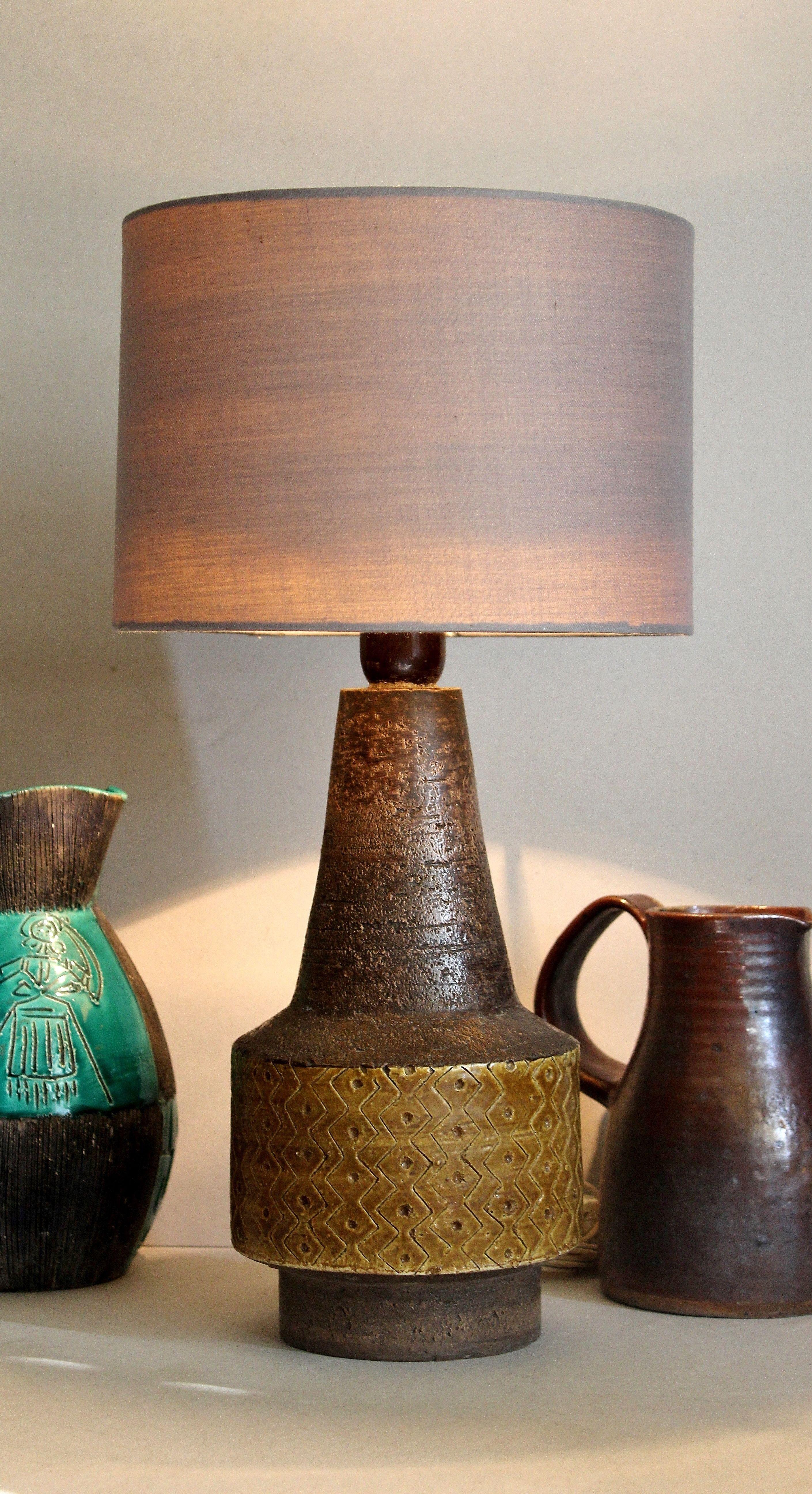 Bitossi Aldo Londi Ceramic Table Lamp 1960s Stoneware With Etsy Vintage Italian Pottery Mid Century Modern Ceramics Ceramic Table Lamps