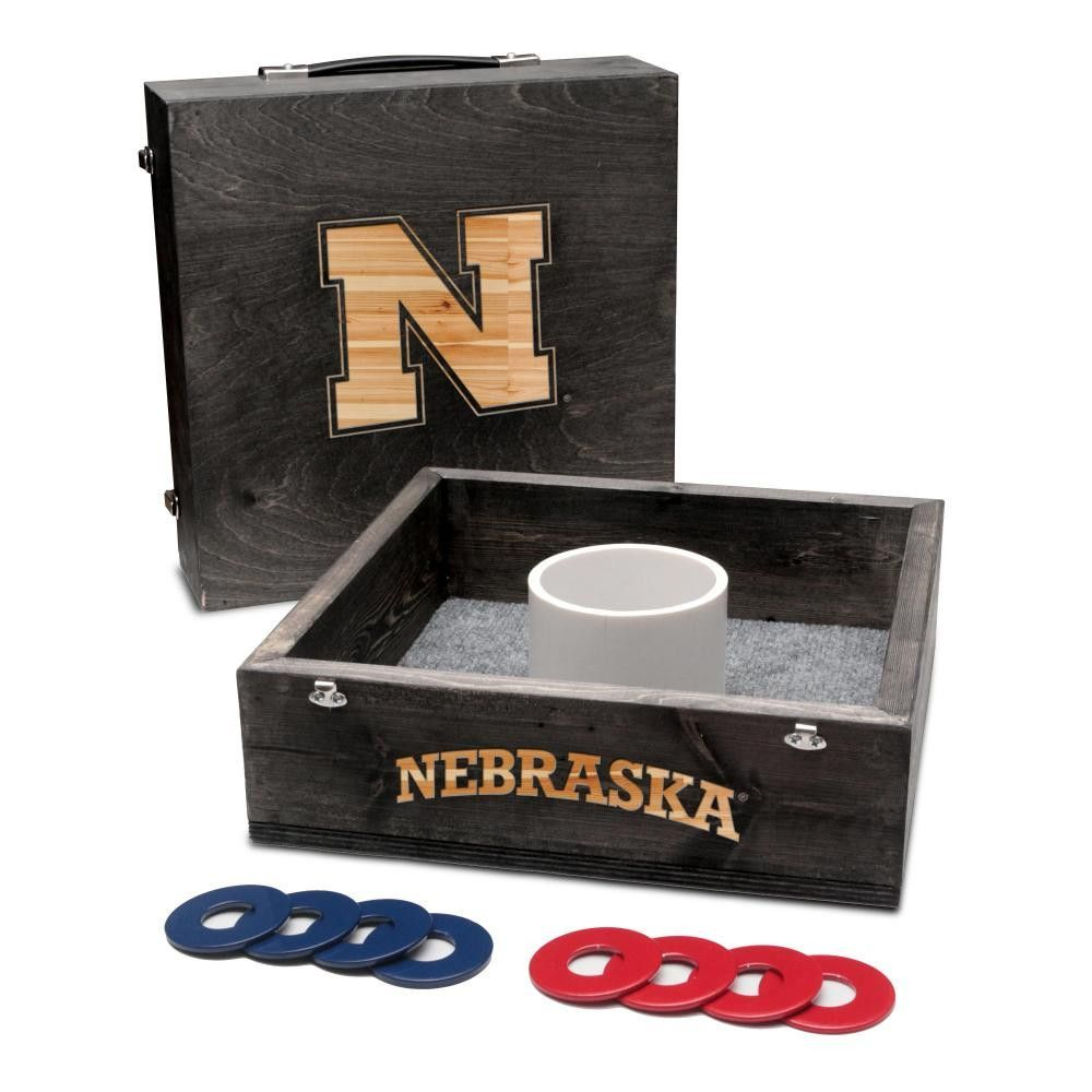Victory Tailgate - Nebraska Cornhuskers Washer Game Set Onyx Stained
