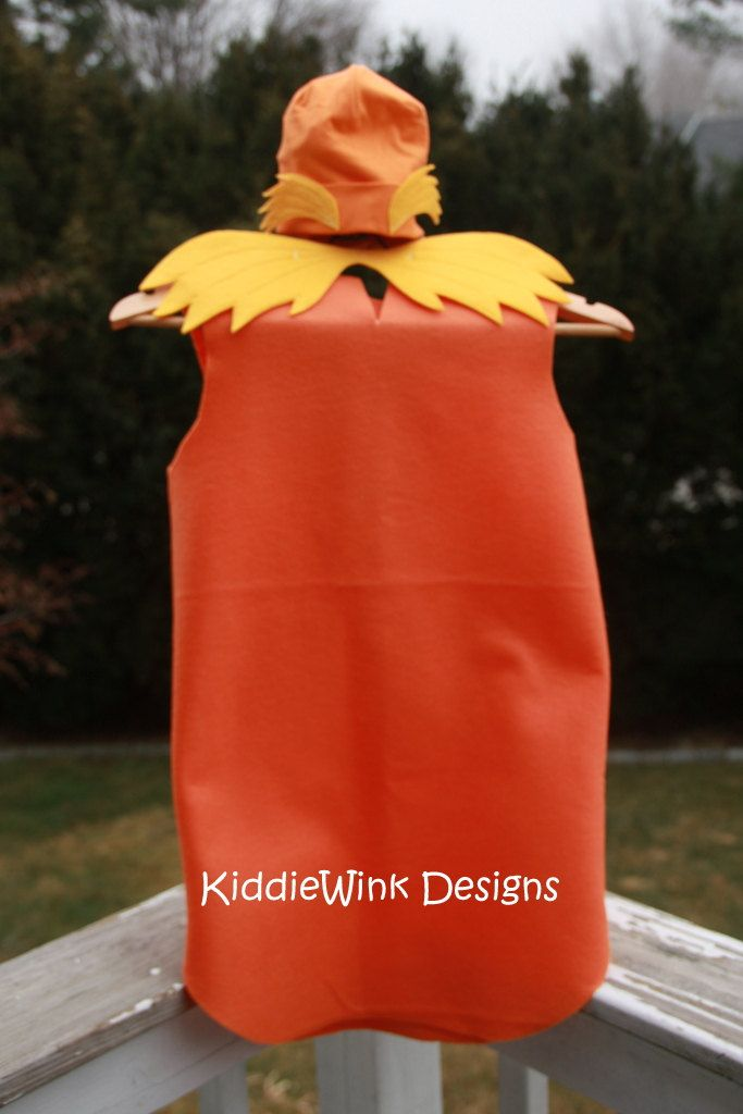 The Lorax Dress-up Costume. $25.00, via Etsy.