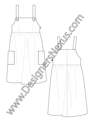 008 Fashion Flat Sketch Apron Jumper Dress Free Download And More Flat Fashion Sketches In Illustrator Pn Fashion Jumpers Dress Illustration Jumper Dress