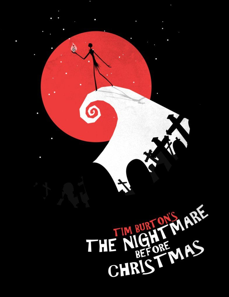 Nightmare Before Christmas: Red Moon Christmas | Tim Burton in 2018 ...