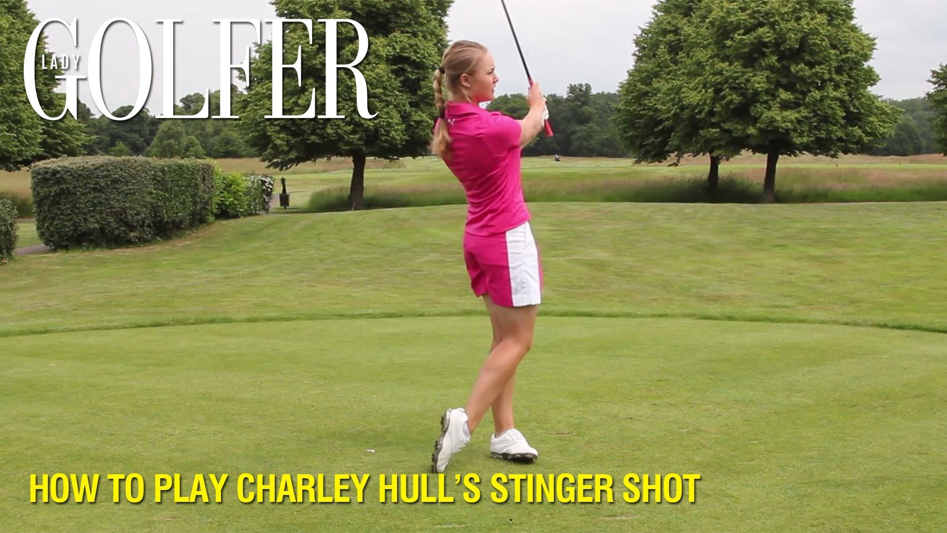 Recent first-time LPGA Tour winner Charley Hull demonstrates how she hits a Stinger shot for this #TipTuesday #GolfTip #Golf #GolfCollege
