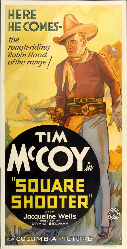 Tim McCoy Square Shooter Classic Movie Poster Wall Art Framed ...