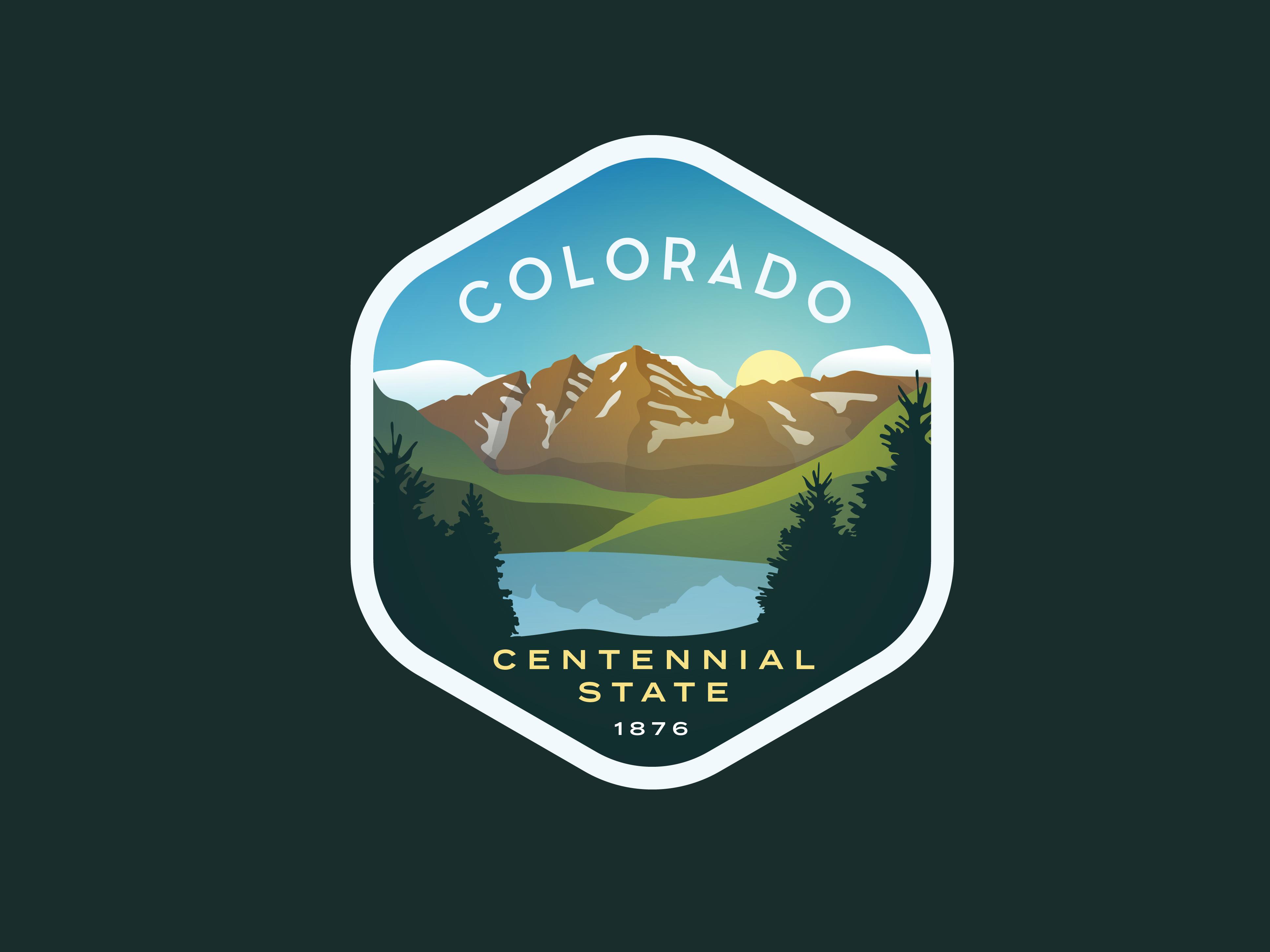 Colorado Badge Badge Design Colorado Design Vintage Logo Design