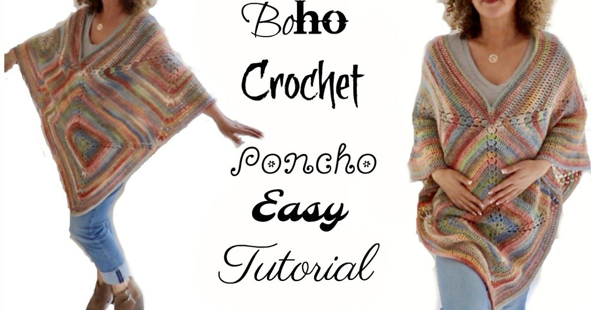 Fall Boho Crochet Poncho 2017 By: Annoo Crochet Designs Video Link ...