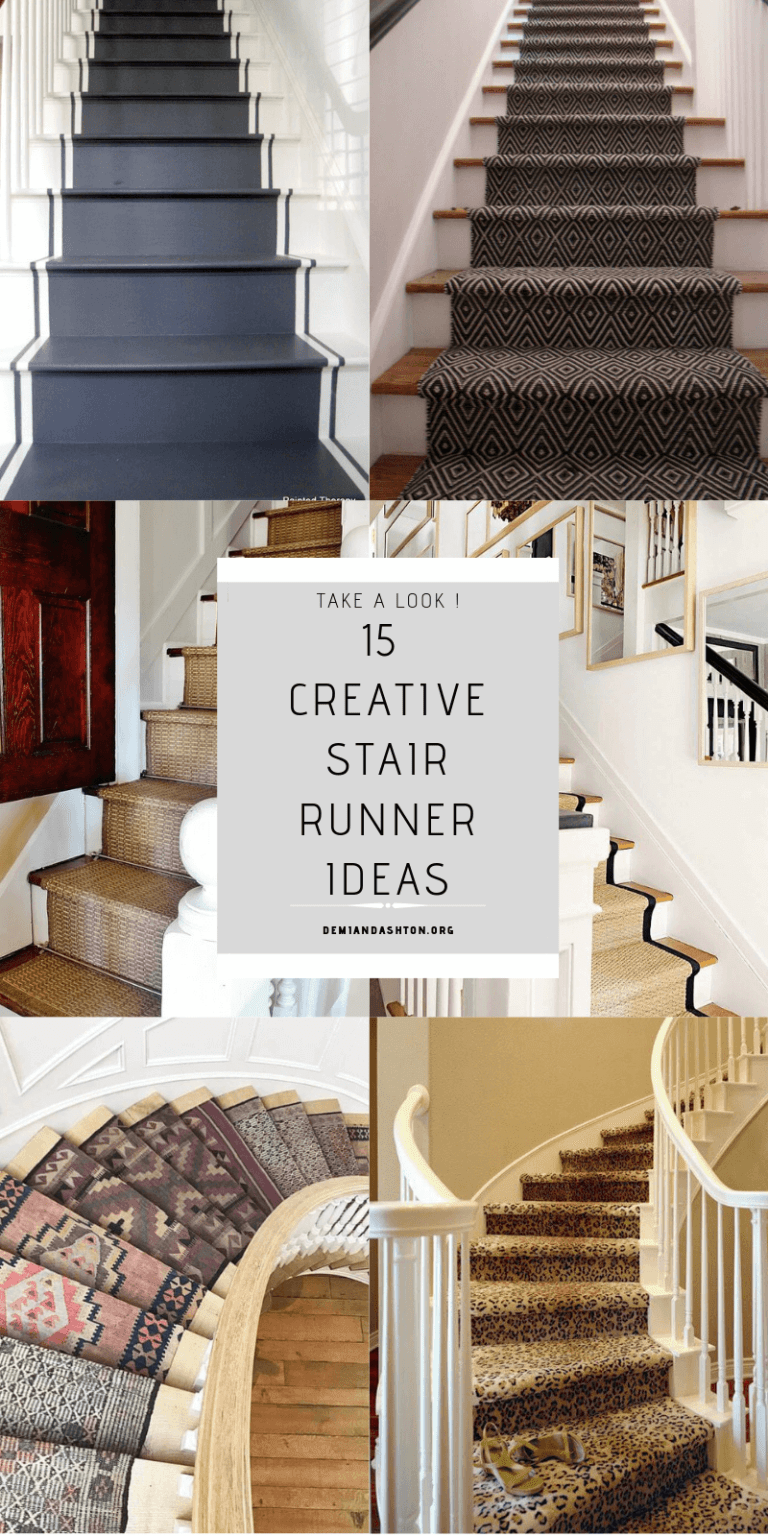 15 Creative Stair Runner Ideas That Will Make Your Staircase Look