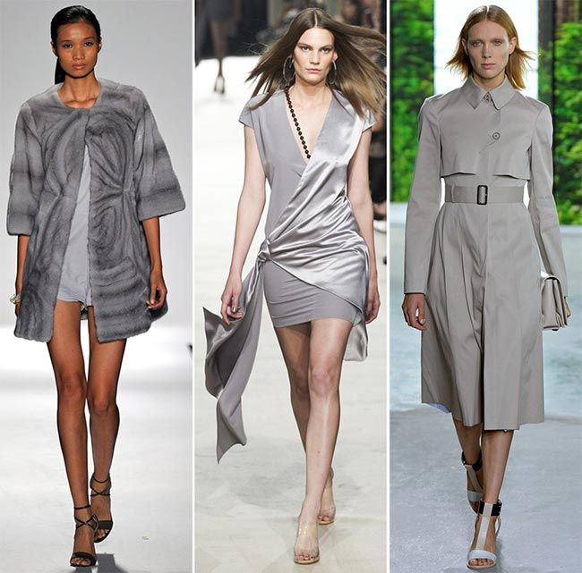 Spring/ Summer 2015 Color Trends: Glacier Gray  #trends #fashiontrends #colortrends #gray