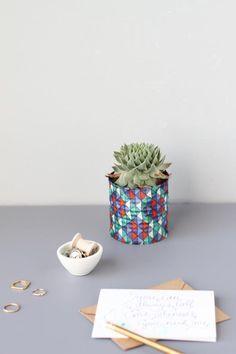 Upcycled Fabric Vases  Image Via: Paper & Stitch