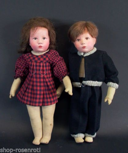 altes-Kaethe-Kruse-Puppenpaar-Maedchen-Junge