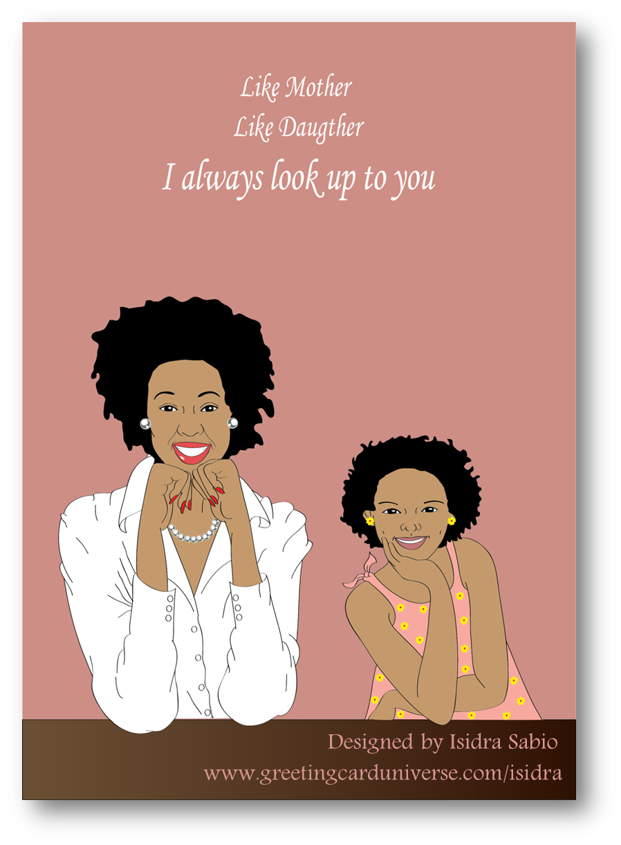 Afrocentric mothers day greeting card a beautiful and elegant afrocentric mothers day greeting card a beautiful and elegant african american black mother kristyandbryce Images