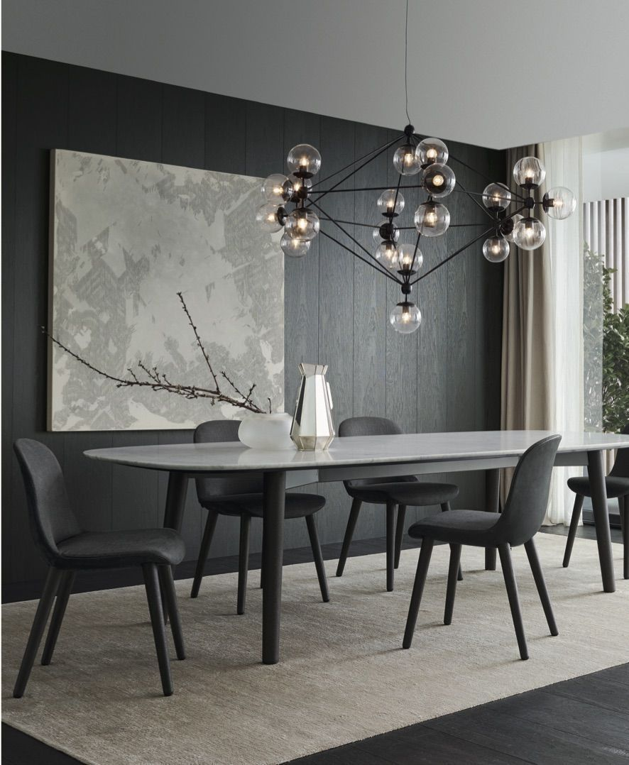 37 Luxury Design Dining Room Ideas with Modern Lighting images