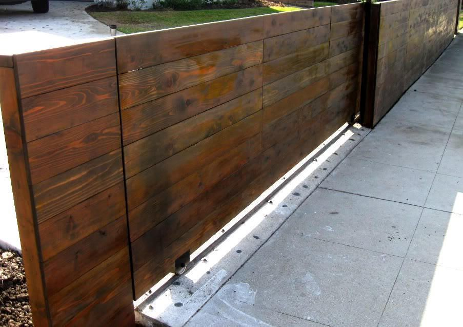 Wood Driveway Automatic Gate Los Angeles The Great