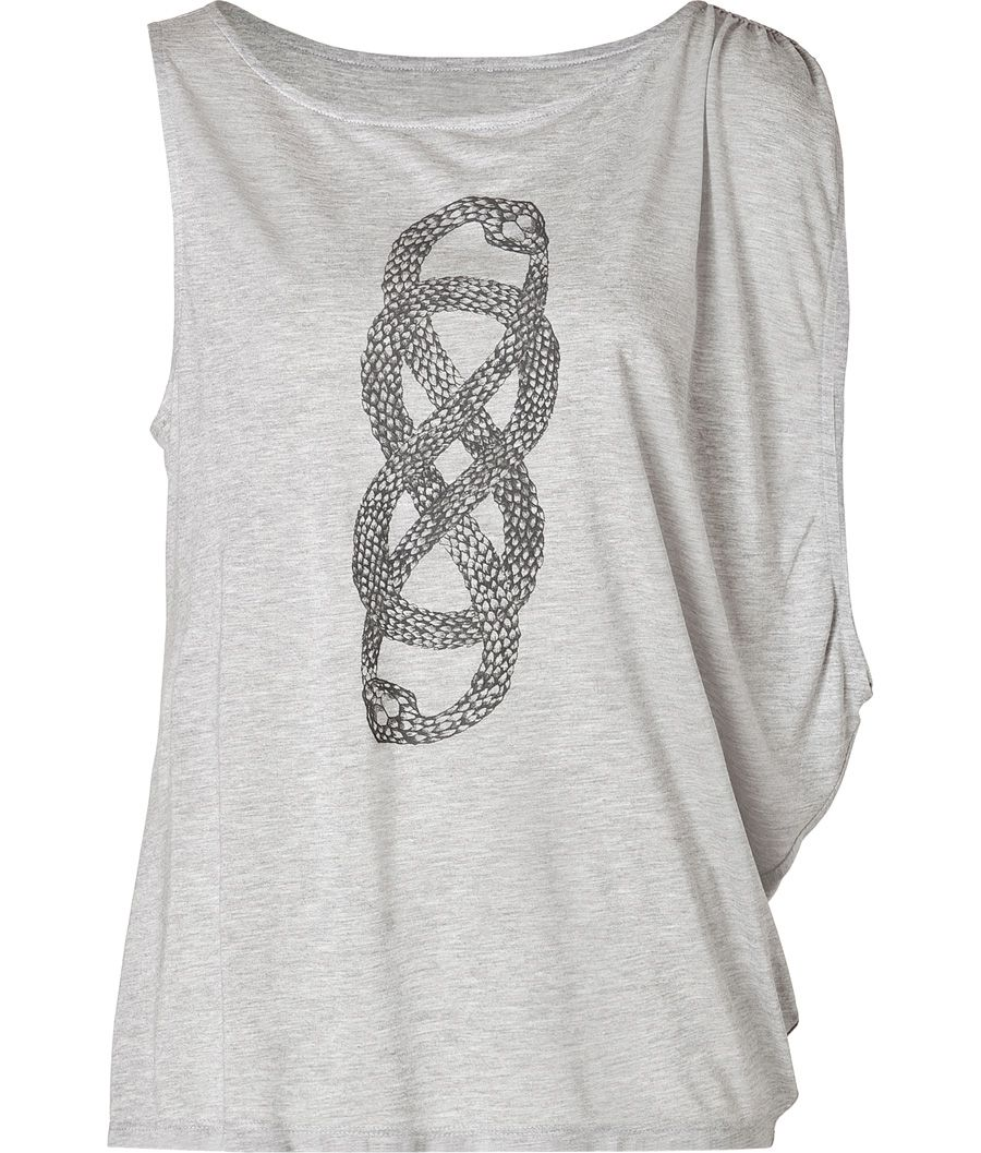 Infinity dress black and white snake