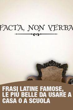 Ci Sono Tantissime Frasi Latine Famose Che Sono Diventate Un Modo