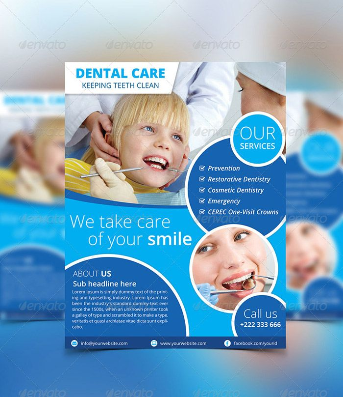A dental brochure should display the importance of dental care ...