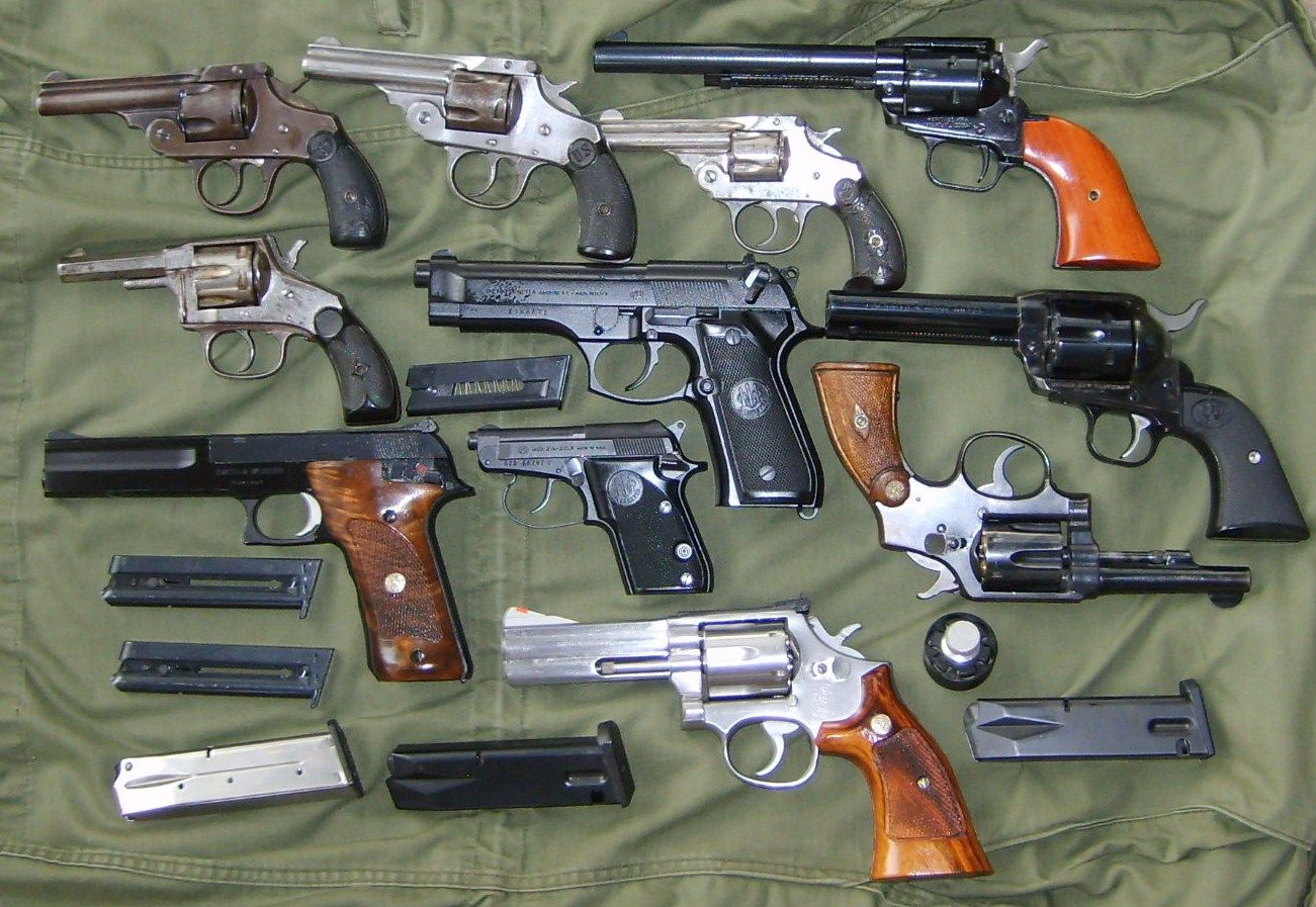 Handguns Both Old And New Smith And Wesson Ruger